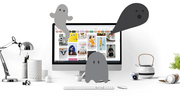 Pnterest, ghosts, social media