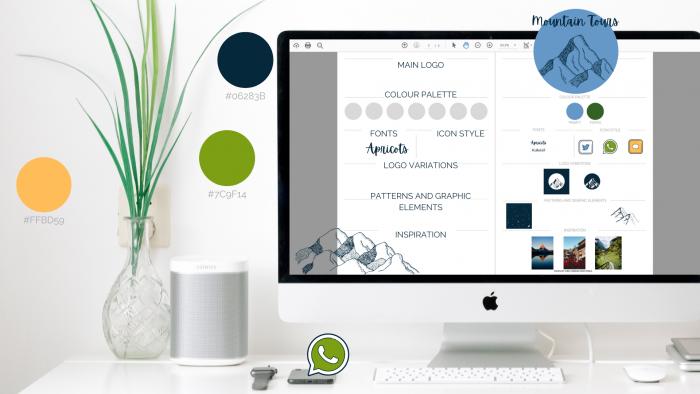 Reka Veszeli, branding, brand board, brand guide, logo